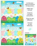 Find the differences visual puzzle, Easter themed Royalty Free Stock Image
