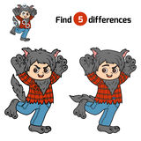 Find differences, Werewolf Royalty Free Stock Image
