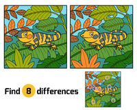 Find differences, Xenosaurus. Find differences education game for children, Xenosaurus Stock Image
