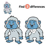 Find differences, Yeti. Find differences, education game for children, Yeti Royalty Free Stock Photos