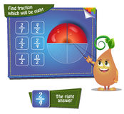 Find faction which will be right. apple part Royalty Free Stock Images