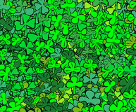 Find four-leaf clover. Abstract  illustration - heap trefoils Royalty Free Stock Photos