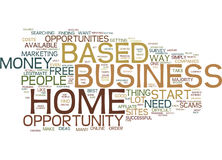 Find A Free Home Based Business Opportunity Text Background  Word Cloud Concept Royalty Free Stock Image