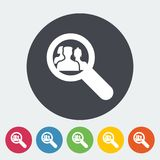 Find friends. Single flat icon on the circle. Vector illustration Stock Photography