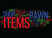 Find Great Bargains At Pawn Shops Text Background  Word Cloud Concept Royalty Free Stock Images