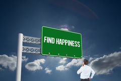 Find happiness against sky Royalty Free Stock Photos