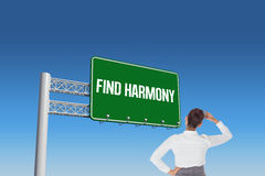 Find harmony against blue sky Royalty Free Stock Photography