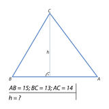 Find the height of the triangle Royalty Free Stock Image