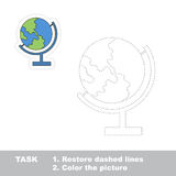 Find hidden globe restoring dashed line Royalty Free Stock Images