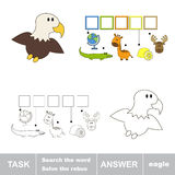 Find hidden word EAGLE. Task and answer. Search the word Royalty Free Stock Image