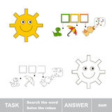 Find hidden word SUN. Task and answer. Search the word Royalty Free Stock Photos