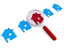 Find home illustration. Illustration of house icons isolated on white Royalty Free Stock Image