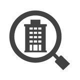 Find Hotel. Hotel, booking, travel icon vector image. Can also be used for travel. Suitable for mobile apps, web apps and print media Stock Photo