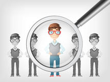 Find Human. Vector EPS 10. Royalty Free Stock Photo