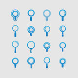 Find icon set Stock Photography