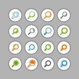 Find icon set Stock Photos