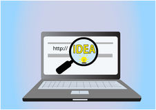 Find idea concept Royalty Free Stock Photography