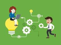Find the ideas, Vector illustration Stock Photo
