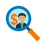 Find Investors. Investment, increase, profit icon vector image. Can also be used for startup. Suitable for use on web apps, mobile apps and print media Royalty Free Stock Photography