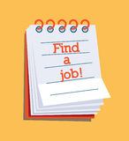 Find a job!. Text on a wall calendar Royalty Free Stock Photos