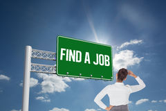 Find a job against cloudy sky with sunshine Stock Images