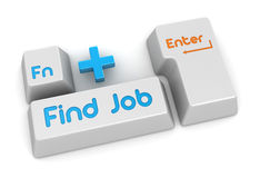 Find Job button. This is a computer generated and 3d rendered picture Royalty Free Stock Image