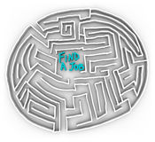 Find a Job - Circular Maze. Choose the right path in the difficult maze of finding a job Royalty Free Stock Images