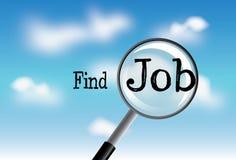 Find  job in cloud illustration Stock Images