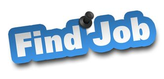 Find job concept 3d illustration isolated. On white background Royalty Free Stock Photography