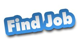 Find job concept 3d illustration isolated. On white background Royalty Free Stock Photo