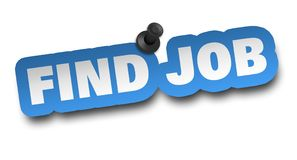 Find job concept 3d illustration isolated. On white background Stock Image
