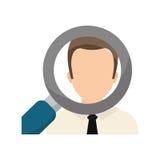 Find a job concept. Icon  illustration graphic design Stock Photo