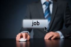Find job concept Stock Image
