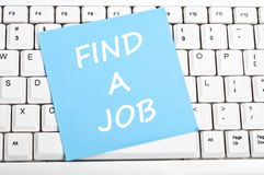 Find a job message Stock Images
