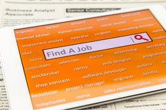 Find a job with online job search engine royalty free stock photo