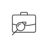 Find job, portfolio search line icon, outline vector sign, linear pictogram isolated on white Royalty Free Stock Photos