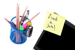 Find a Job post Royalty Free Stock Image