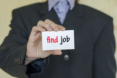 Find job text concept Royalty Free Stock Photos