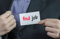Find job text concept Royalty Free Stock Image