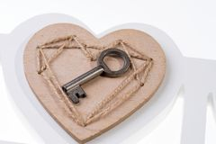 Find key to the heart. Concept as a symbol of love Royalty Free Stock Photos