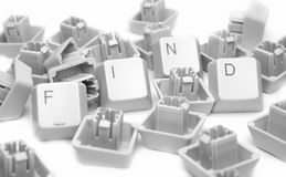 FIND keyboard, isolated on white. Great details Stock Images