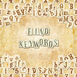 Find keywords Royalty Free Stock Image