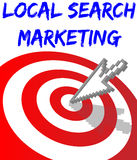 Find Local Search Targeted Marketing. Arrow find Local Search website marketing target Royalty Free Stock Image
