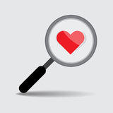 Find Love Concept, Vector Work Royalty Free Stock Image