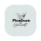 Find love dating. Find a partner, typographic message on the retro rays background. Can be used for love searching and for business partnership as well. Vector Stock Photography