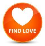 Find love elegant orange round button. Find love isolated on elegant orange round button abstract illustration Royalty Free Stock Photo