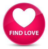 Find love elegant pink round button. Find love isolated on elegant pink round button abstract illustration Stock Images