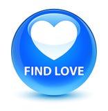 Find love glassy cyan blue round button. Find love isolated on glassy cyan blue round button abstract illustration Stock Photo