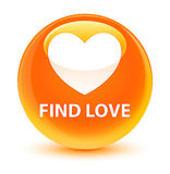 Find love glassy orange round button. Find love isolated on glassy orange round button abstract illustration Stock Photos
