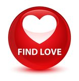 Find love glassy red round button. Find love isolated on glassy red round button abstract illustration Stock Image